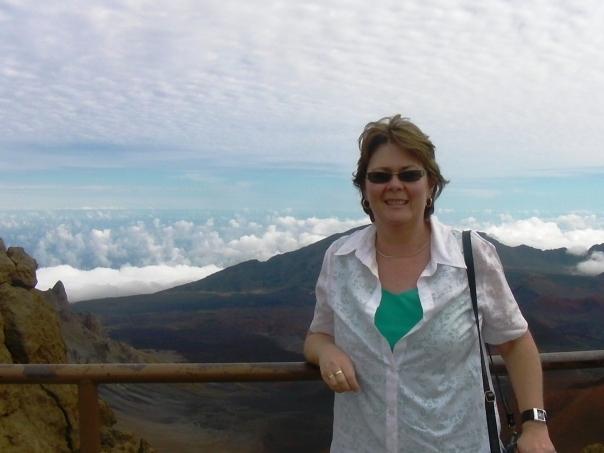 Julie enjoying the sights in Hawaii