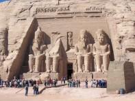 Abu Simbel - main temple with people