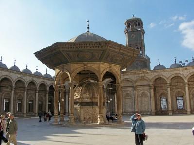 Cairo - M A mosque courtyard