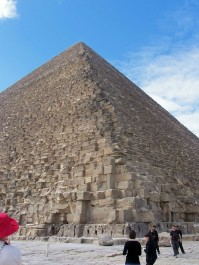 Giza Corner view of Cheops Pyramid