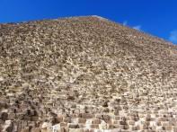 Giza Looking up the pyramid