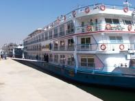 Nile Cruise - boat moored at Edfu