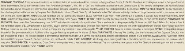 Terms and Conditions - Evergreen Tours