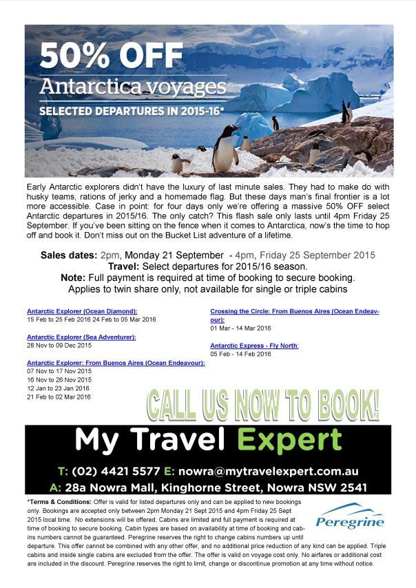 Antarctica Specials
