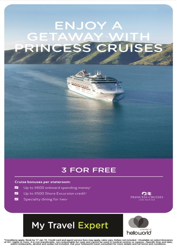 Princess Cruises Associate Legacy Digital Poster
